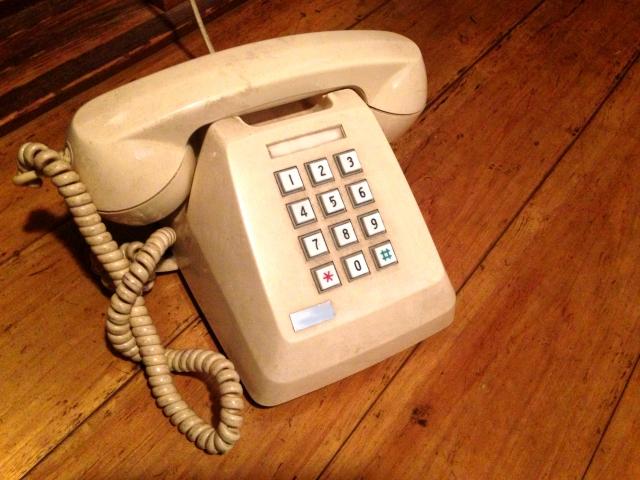プッシュ式電話機