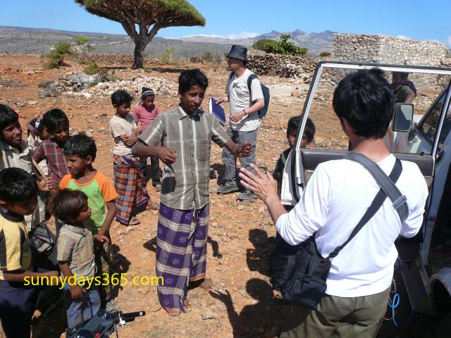 シェバホン村の子供たちと初対面