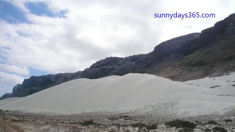 モンスーンで地上に吹き上げられてできた砂丘