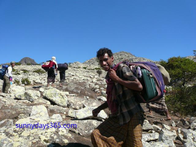 ハギール山脈へ登る途中でのスナップ