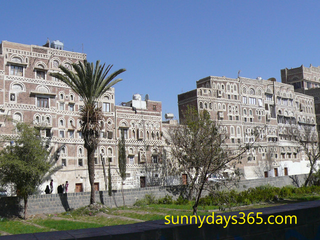 サナアの漆喰建築物