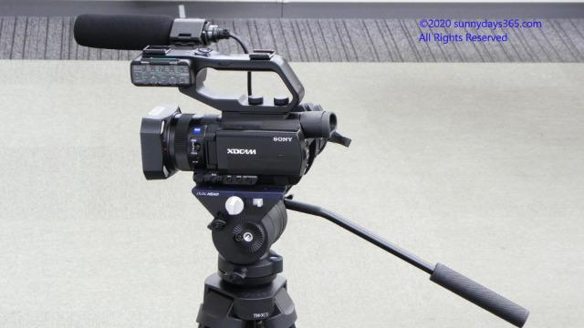 ビデオカメラをセットしたTH-X