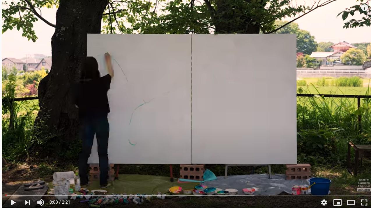 タイムラプスで撮影されたお絵描きの動画